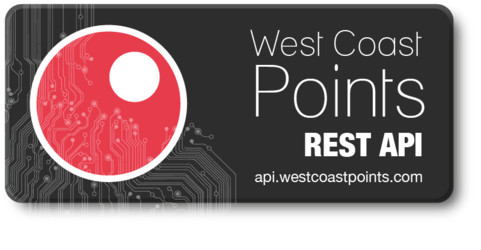 West Coast Points API - api.westcoastpoints.com